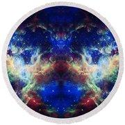 Tarantula Nebula Reflection Round Beach Towel