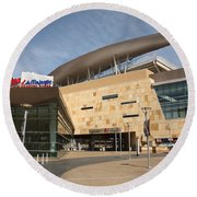 Target Field - Minnesota Twins Round Beach Towel by Frank Romeo