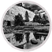 Tarn Reflection Round Beach Towel
