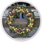 Tarpley Thompson Store Wreath Round Beach Towel
