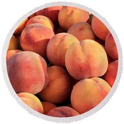 Tasty Peaches Round Beach Towel