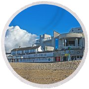Tate Gallery St Ives Cornwall Round Beach Towel