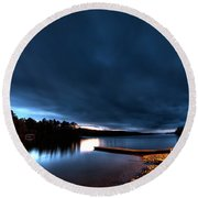 Tator Hole 14mm Sunset Round Beach Towel