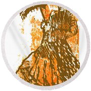 Tattered Parasol Round Beach Towel