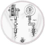 Tattooing Machine Patent Art  1891 Round Beach Towel