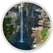 Taughannock Falls Round Beach Towel by Christina Rollo