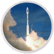 Taurus Rocket Launch Round Beach Towel