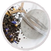 Tea Ball Infuser And Scented Tea Round Beach Towel