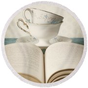 Tea For Two Round Beach Towel by Amy Weiss