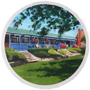 Tea Rooms At The Peoples Park Round Beach Towel