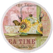Tea Time-jp2579 Round Beach Towel