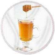 Tea With Honey Round Beach Towel