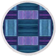 Teal Square Dreams Two Round Beach Towel