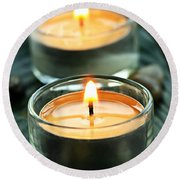 Tealights Round Beach Towel