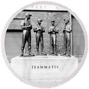 Teammates Round Beach Towel
