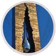 Teardrop  9 - 11 Memorial Bayonne N J  Round Beach Towel