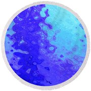 Tears Of A Muse Round Beach Towel