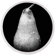 Tears Of A Sad Pear In Silver Round Beach Towel