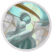 Teary Dreams Pastel Abstract Round Beach Towel
