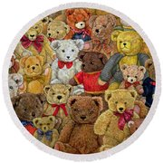 Ted Spread Round Beach Towel by Ditz