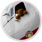 Teddy Bear Pilot Round Beach Towel