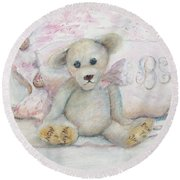 Teddy Friend Round Beach Towel