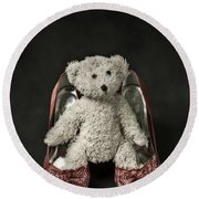 Teddy In Pumps Round Beach Towel