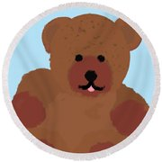 Teddy Snapshot Round Beach Towel