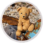 Ted's On The Rust Pile Round Beach Towel