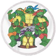 Teenage Mutant Ninja Turtles  Round Beach Towel
