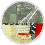 Teeny Tiny Art 119 Round Beach Towel