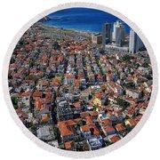 Tel Aviv - The First Neighboorhoods Round Beach Towel