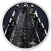 Telecommunications Tower Round Beach Towel