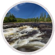 Temperance River 3 Round Beach Towel