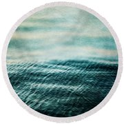 Tempest Ocean Landscape In Shades Of Teal Round Beach Towel