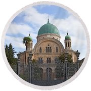 Tempio Maggiore  The Great Synagogue Of Florence Round Beach Towel