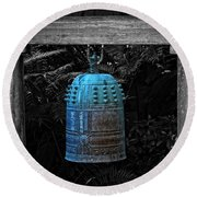 Temple Bell - Buddhist Photography By William Patrick And Sharon Cummings  Round Beach Towel