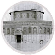 Temple Mount Round Beach Towel