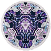Temple Of Simha Round Beach Towel by Derek Gedney