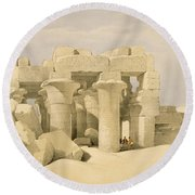 Temple Of Sobek And Haroeris At Kom Ombo Round Beach Towel