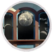 Temple Of The Goddess Round Beach Towel