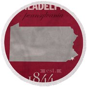 Temple University Owls Philadelphia Pennsylvania College Town State Map Poster Series No 103 Round Beach Towel