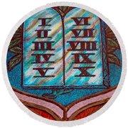 Ten Commandments Glass Round Beach Towel