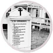 Ten Commandments Round Beach Towel