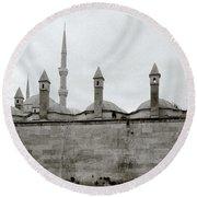 Ten Minarets Round Beach Towel