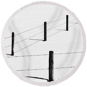 Ten Soldiers  Round Beach Towel
