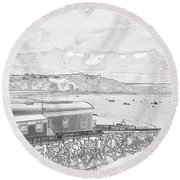 Tenby Old Lifeboat Station Round Beach Towel