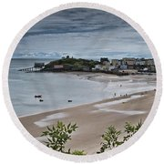 Tenby Panorama 3 Round Beach Towel
