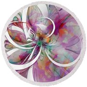 Tendrils 01 Round Beach Towel