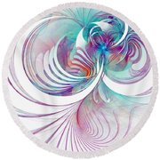 Tendrils 02 Round Beach Towel by Amanda Moore